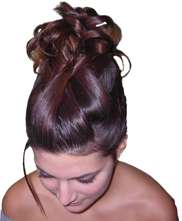 coiffure bouclée